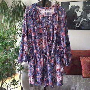 OLD NAVY Floral Print Drawstring Jumpsuit Romper